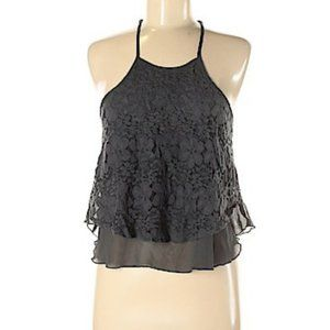 Hollister | Floral Lace Overlay Flowy Tank